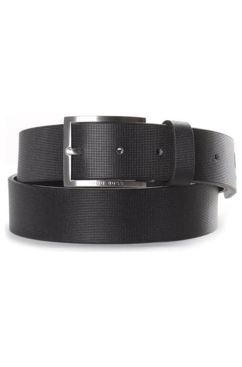Tienzo Men's Textured Leather Belt