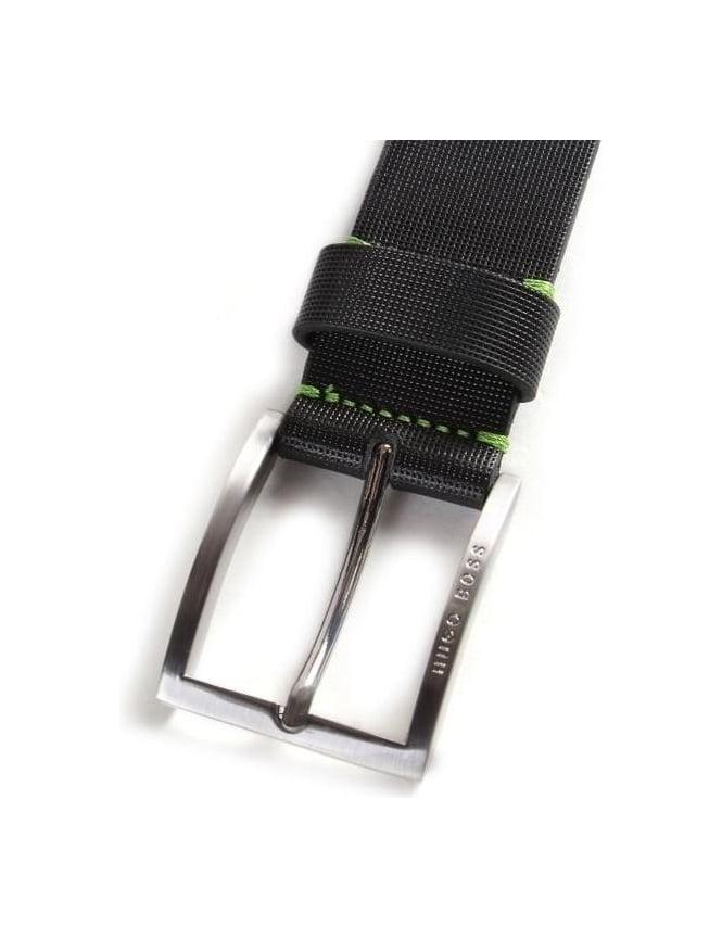 Boss Green Tienzo Men s Textured Leather Belt 066f0ac14b5