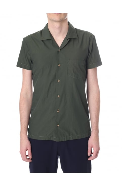 Esalsa Men's Regular Fit Camp Collar Shirt