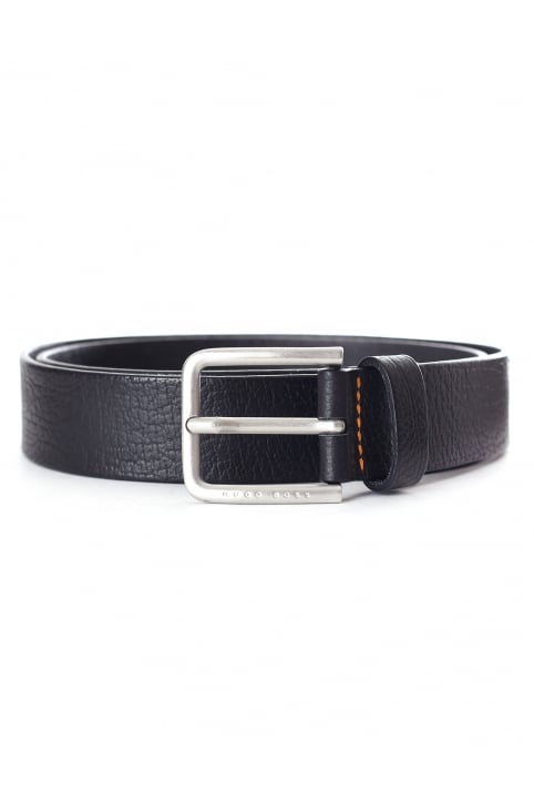 Men's Embossed Leather Belt