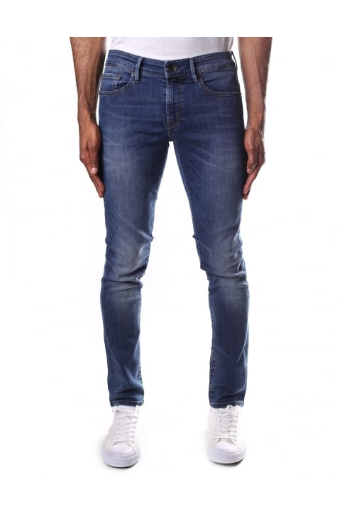 Men's Skinny Fit Orange 72 Jeans