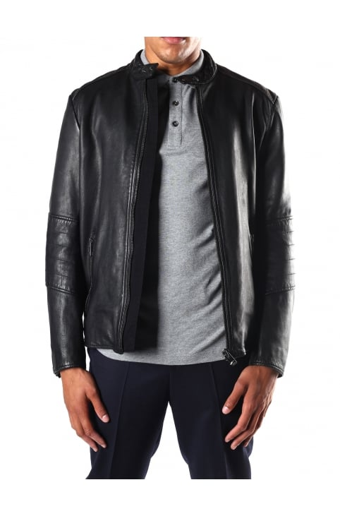 Men's Slim Fit Leather Jacket