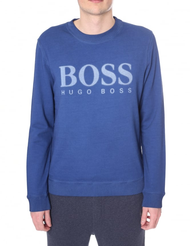 Boss Orange Men's 'Walker' Crew Neck Logo Sweat Top