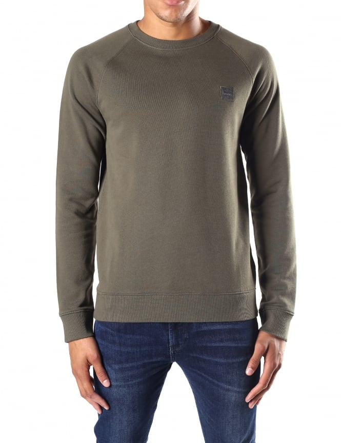 Boss Orange Wheel UK Men's Crew Neck Sweat Top