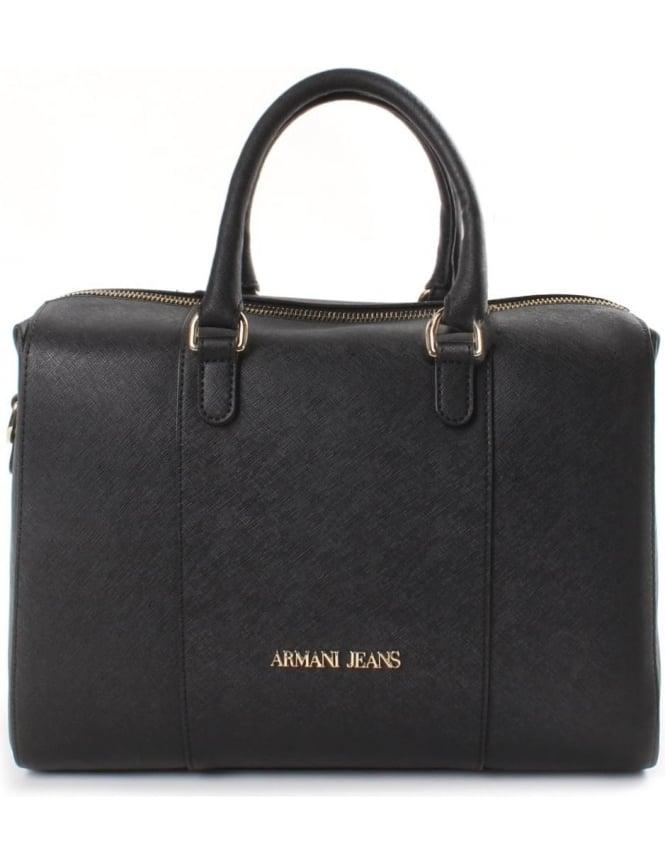 fedfae7359 Armani Jeans Boston Women's Barrel Bag Black