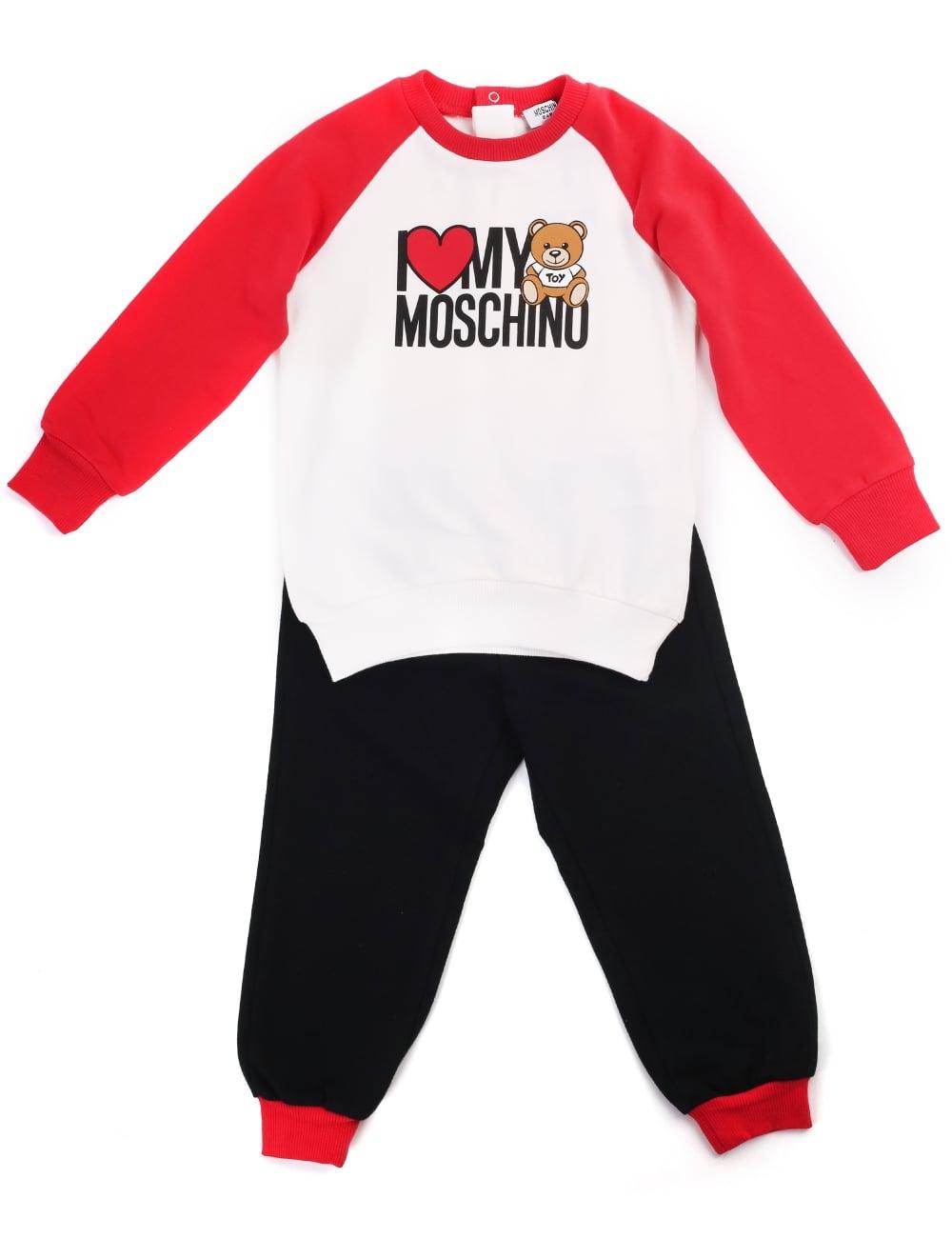 Moschino Boys I Love My Moschino Tracksuit 98da15d99