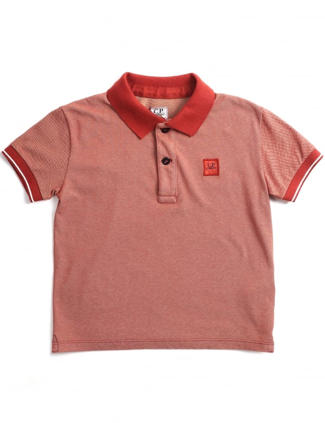 C.P. Company Boys/Youth Short Sleeve Polo Top