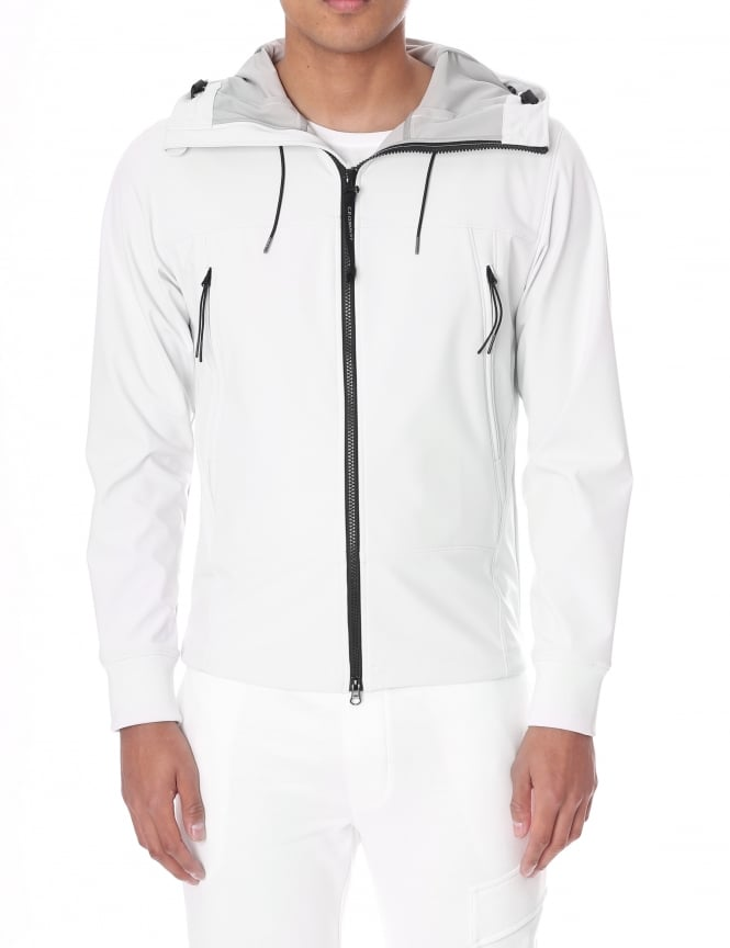 C.P. Company Men's Goggle Hood Zip Through Soft Shell Jacket