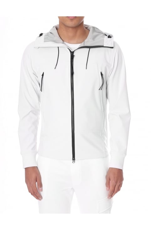 Men's Goggle Hood Zip Through Soft Shell Jacket