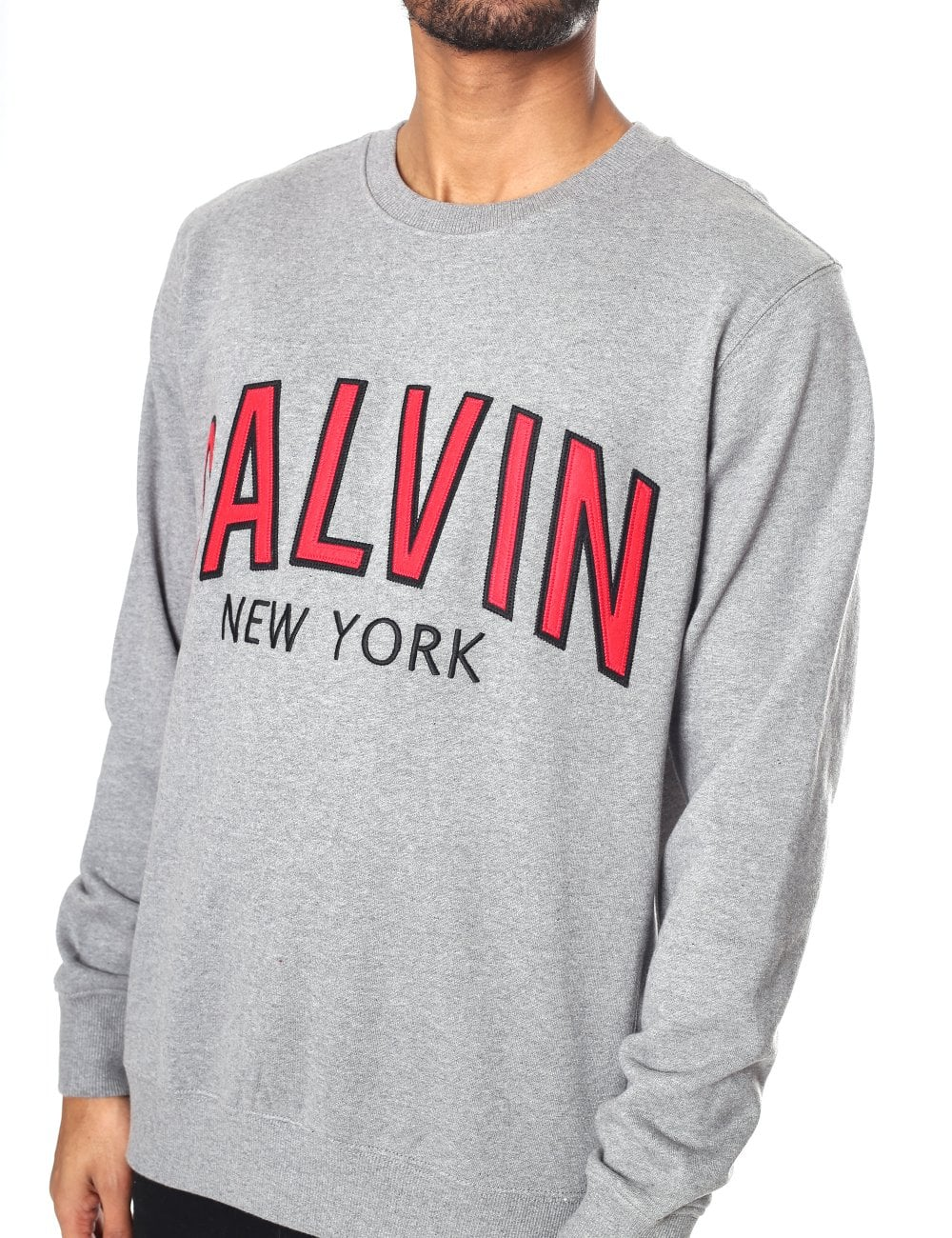 f50c76381b7a Calvin Klein Jeans Men s Calvin Varsity Graphic Crew Neck Sweatshirt