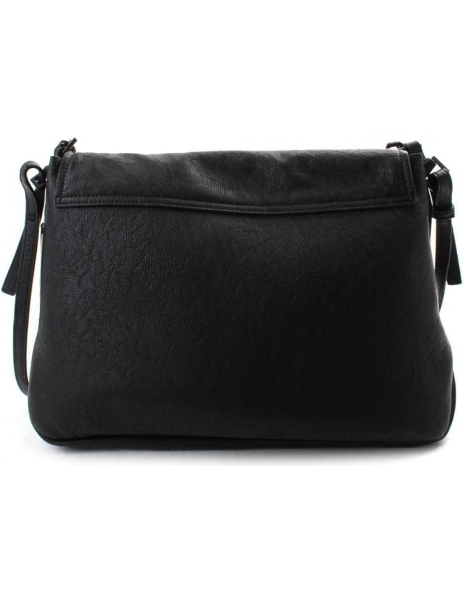 Calvin Klein Claire Women s Large Flap Crossover Bag Black 425509d93d176