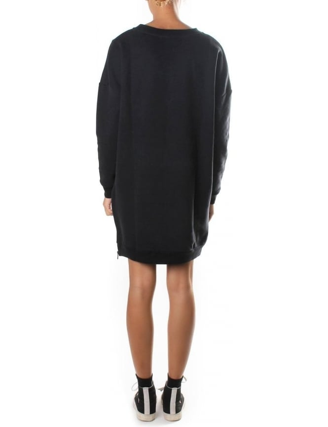 0304a6e7a408 Calvin Klein Dovali Crew Neck Women s Jumper Dress Black