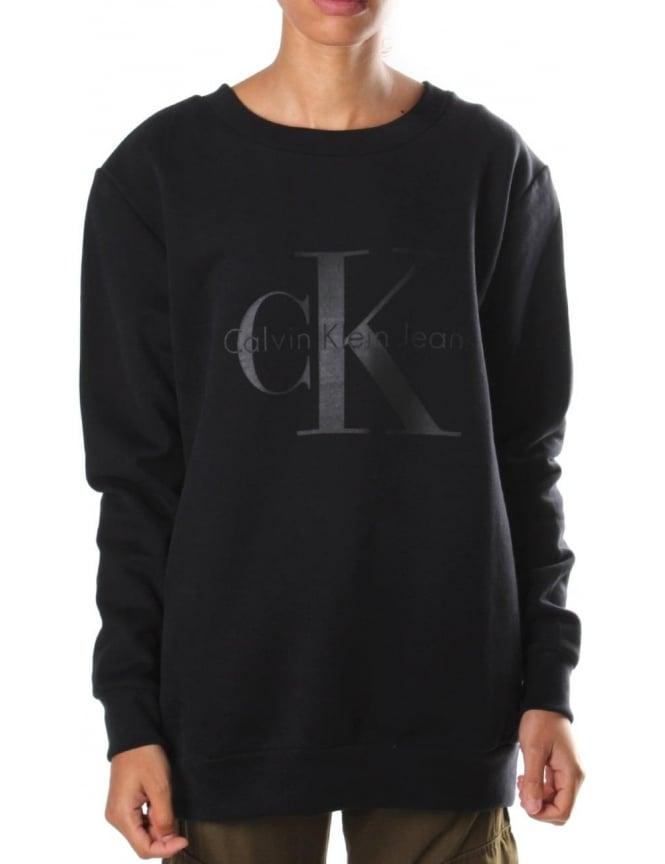 24c273362b7 Calvin Klein Halan Crew Neck Women s Sweat Top Black