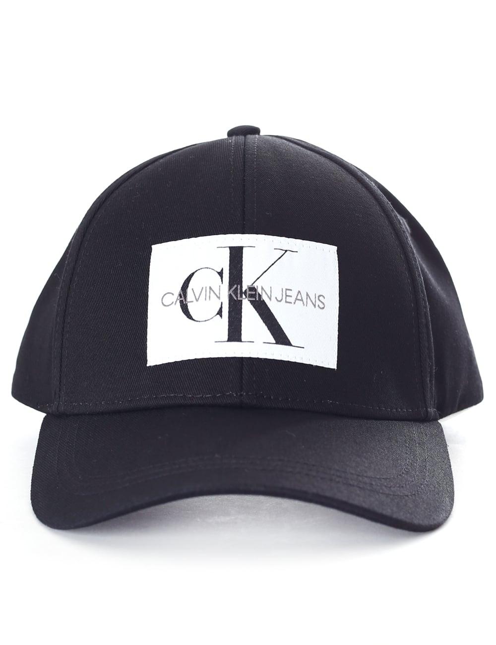 c56422ab56fef Calvin Klein Men s Logo Patch Cap Black Beauty