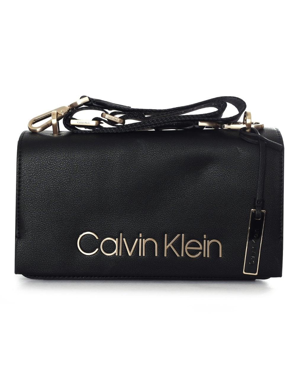 Calvin Klein Women s CK Candy Logo Shoulder Bag Black 5453e7b5a5