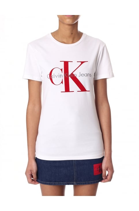 Women's CK Logo Short Sleeve Tee