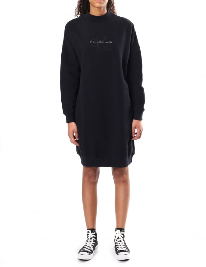 Calvin Klein Women's Denver True Icon Long Sleeve Sweat Dress