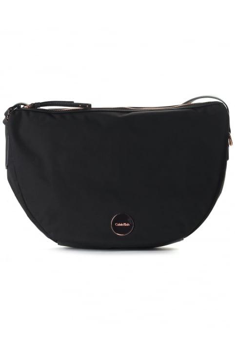 Women's Edith Half Moon Crossbody Bag Black