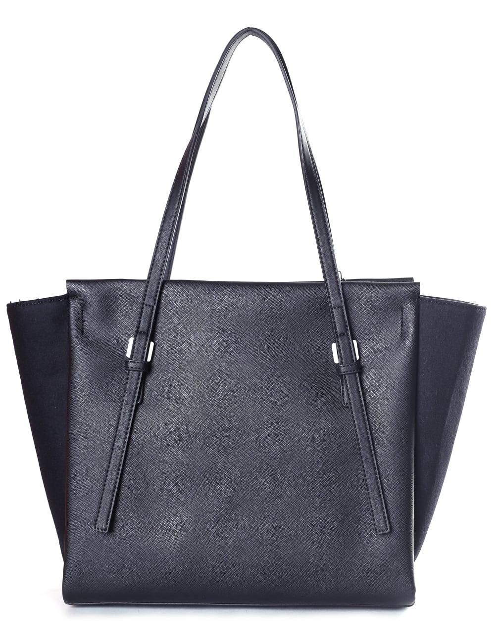 Calvin Klein Women s Marissa Textured Large Tote Bag Black 703b741c1a