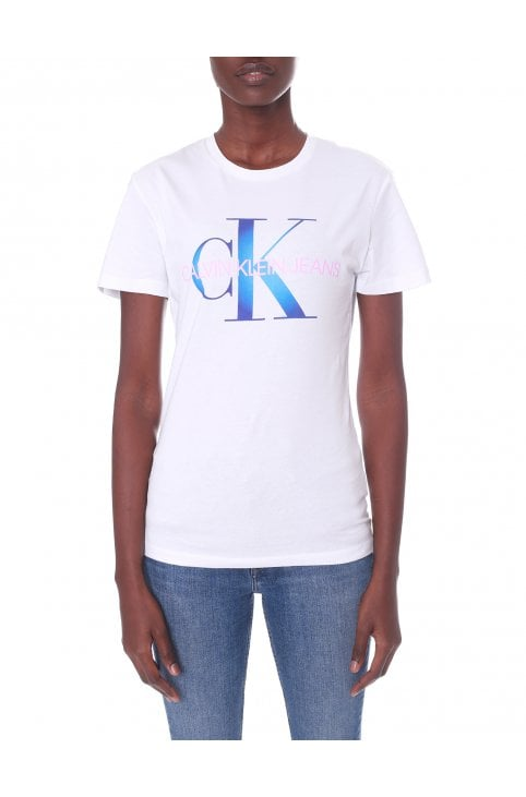 9d6a66f9da146 Women s Monogram Degrade Logo Slim Tee · Calvin Klein Women s Monogram  Degrade ...