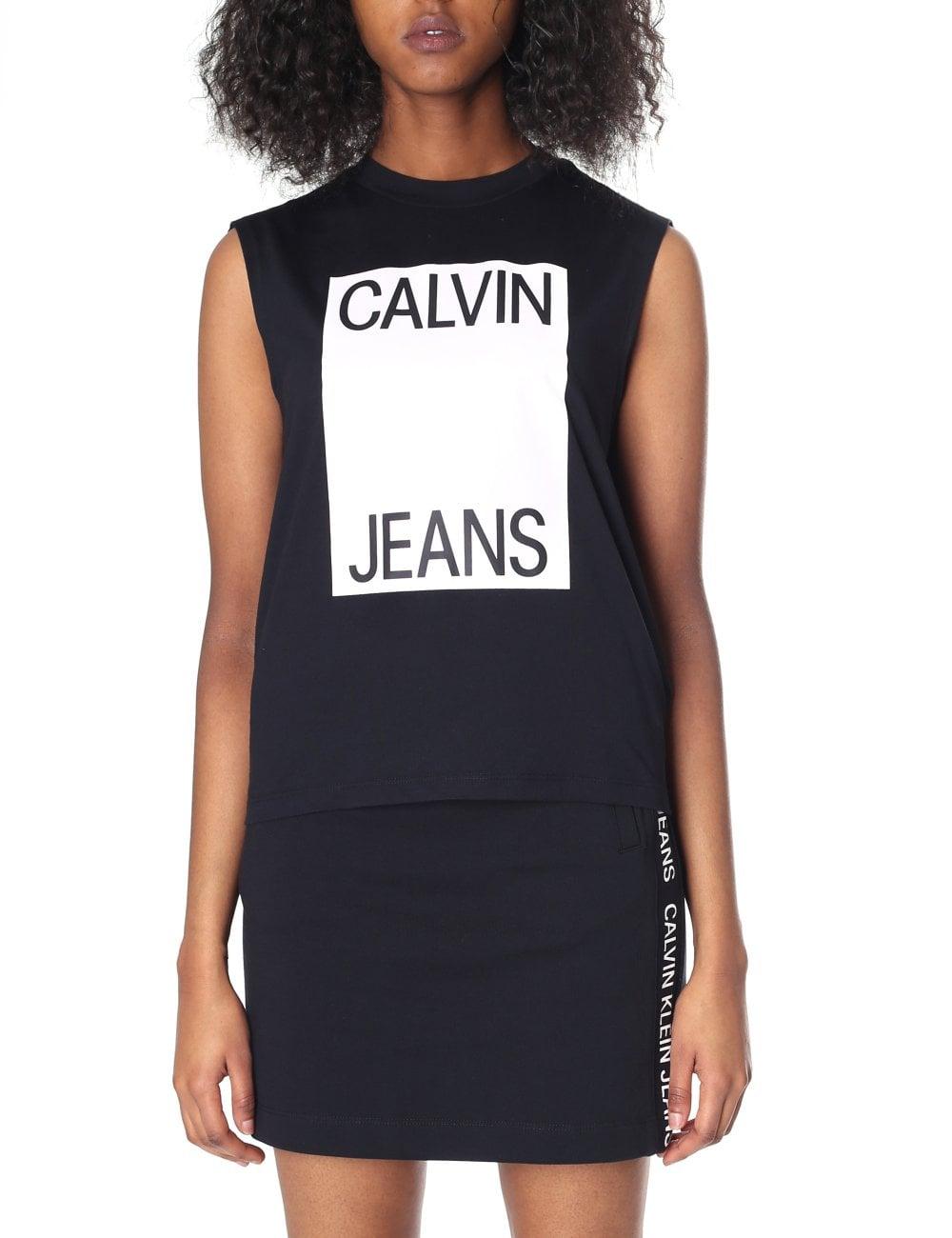 7068c8e3 Calvin Klein Women's Muscle Tank Top