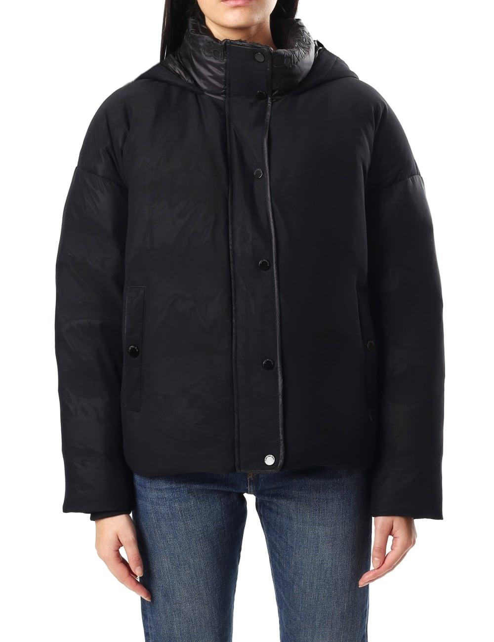 a8630d61464 Calvin Klein Women s Ocoon Down Mesh Puffer Jacket CK Black