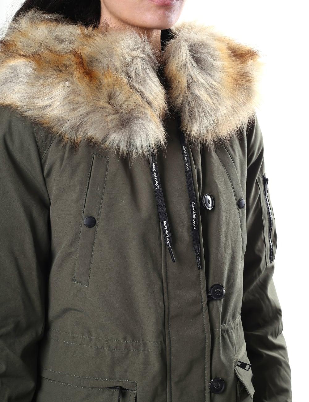 4fe4c5bfcddc Calvin Klein Women s Olivia Down Parka Coat