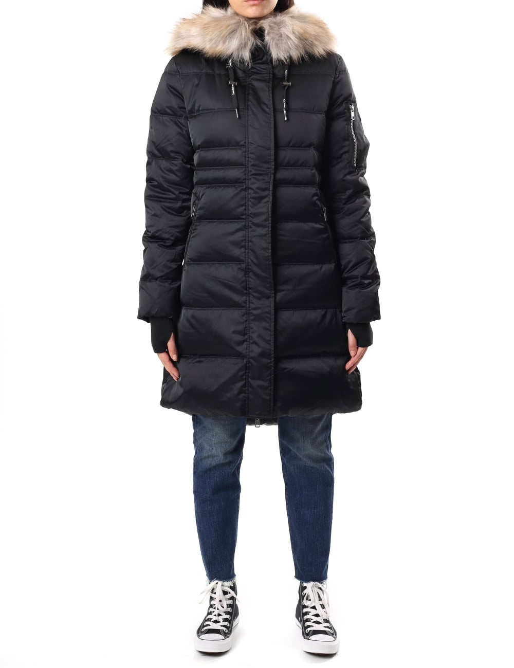 Calvin Klein Women S Opra Hooded Down Coat