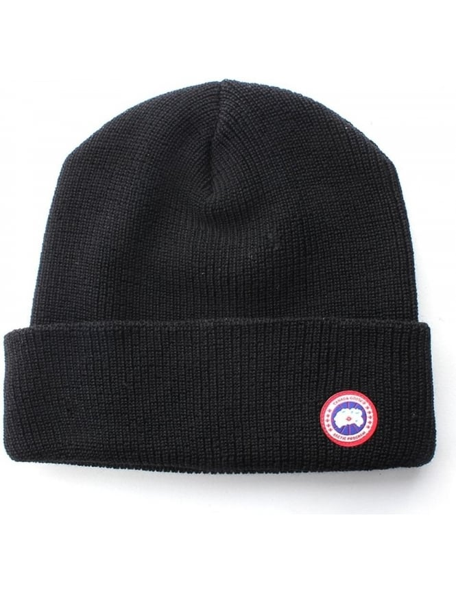 Canada Goose Merino Wool Men s Watch Beanie Black bdd34a19e76