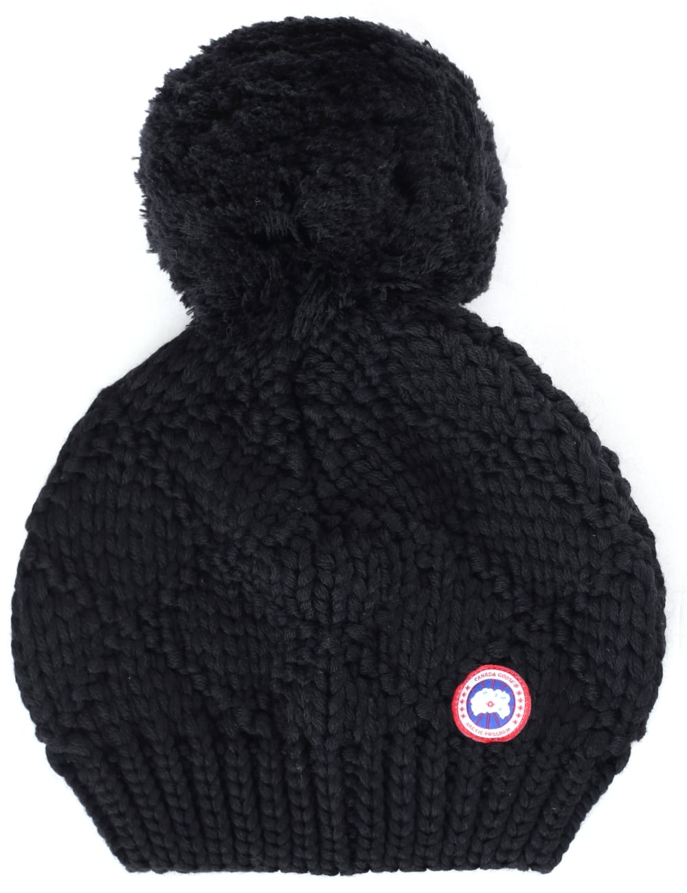 Canada Goose Women s Giant Pom Pom Knitted Beanie Hat ee0b089d4