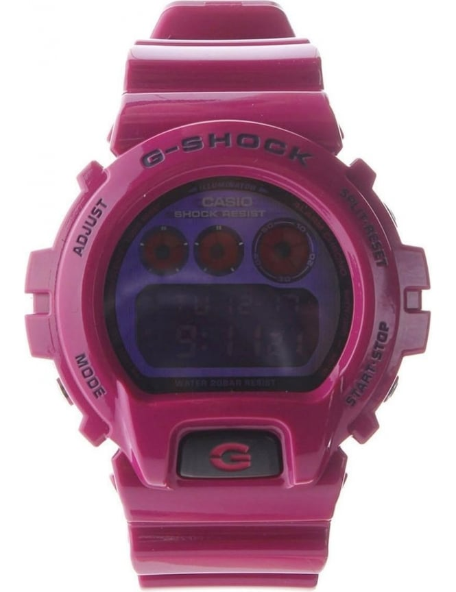 Casio Digital Colour G Shock Men's Watch Raspberry