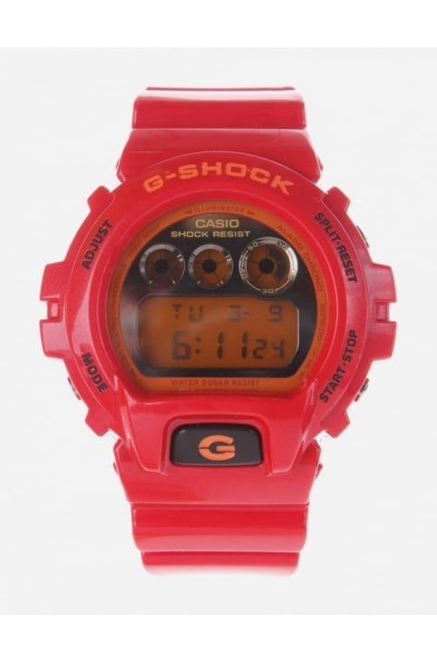 Metallic Watch Men's Red