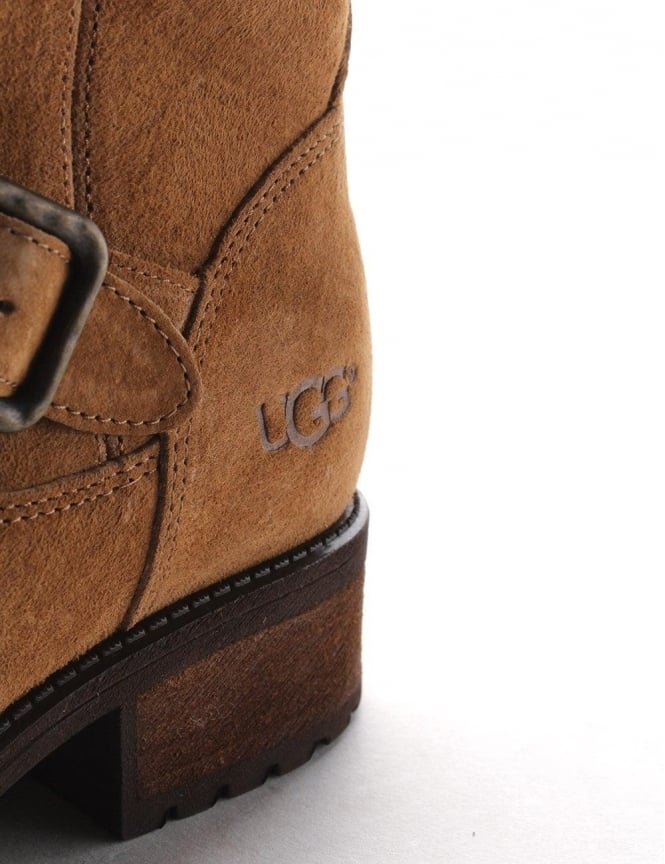 ca6aa7aecca UGG Chaney Suede Women's Calf length Boots Chestnut