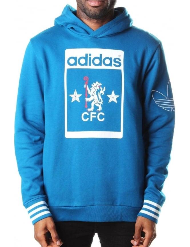 pretty nice e213f 27b2b Adidas Chelsea Football Club Fleece Men's Hooded Sweat Royal