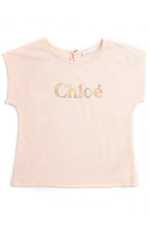 Girls Logo Capped Sleeve Tee