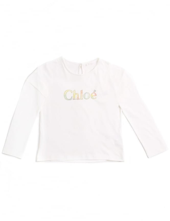 Chloe Girls Long Sleeve Logo Tee