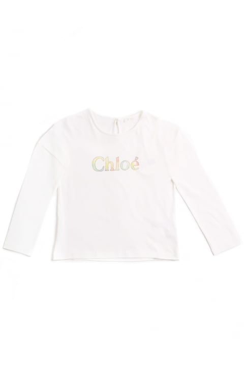 Girls Long Sleeve Logo Tee