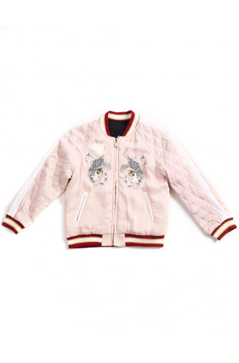 Girls Reversible Embroidered Jacket