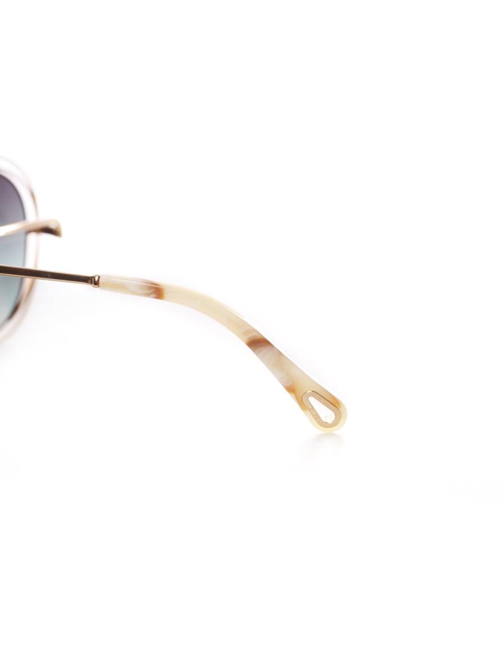 25bbfbe43127 Chloe Women s Carlina Aviator Sunglasses