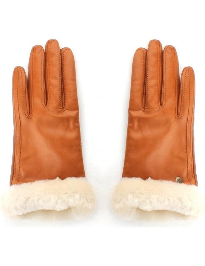 a139486d379 UGG Classic Leather Smart Women's Glove Chestnut