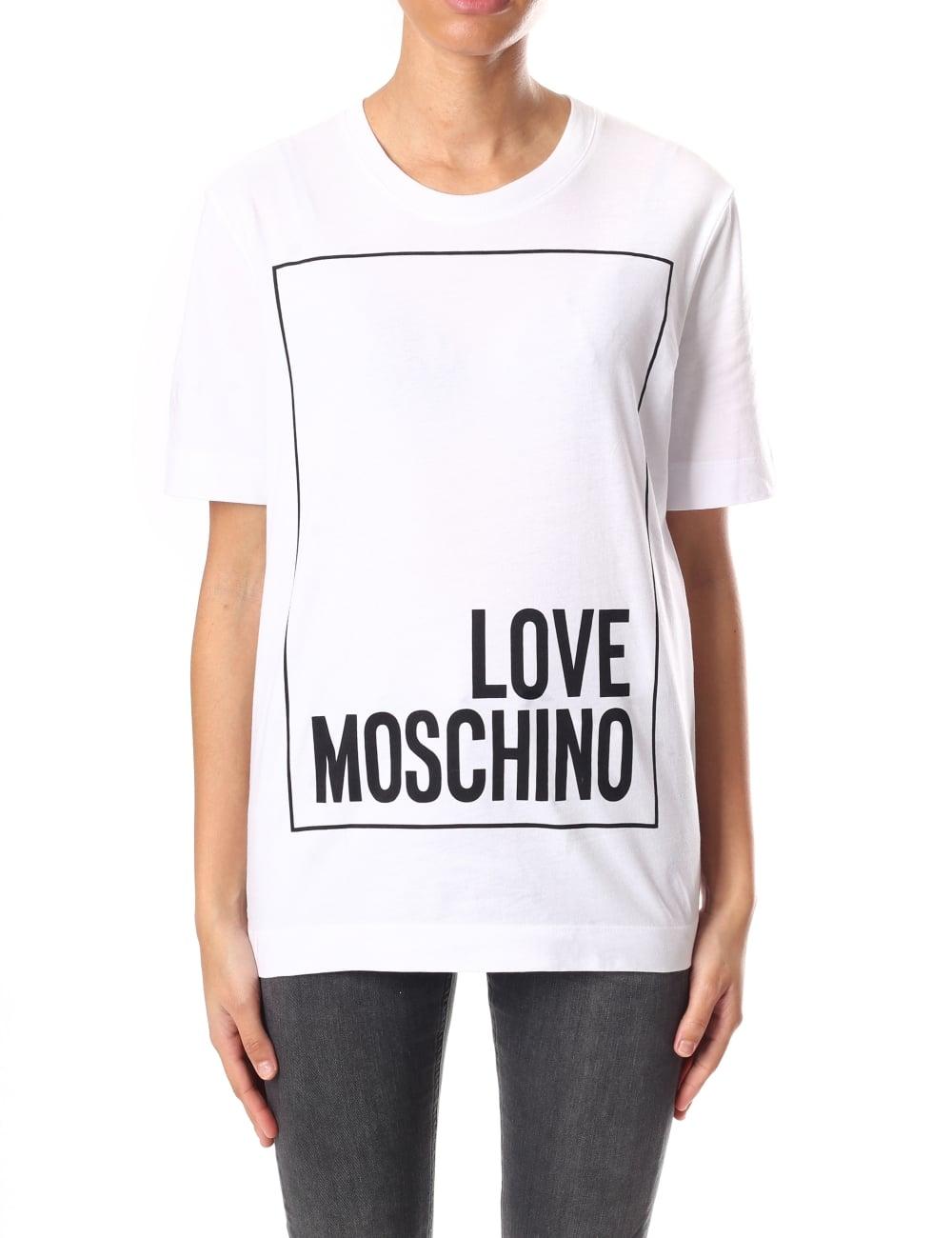 60adb6778c239 Love Moschino Classic Square Logo Women's Tee