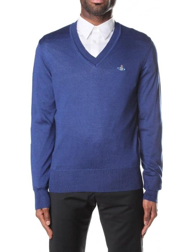 e7d19faef3 Vivienne Westwood Classic V-Neck Men's Knitted Jumper
