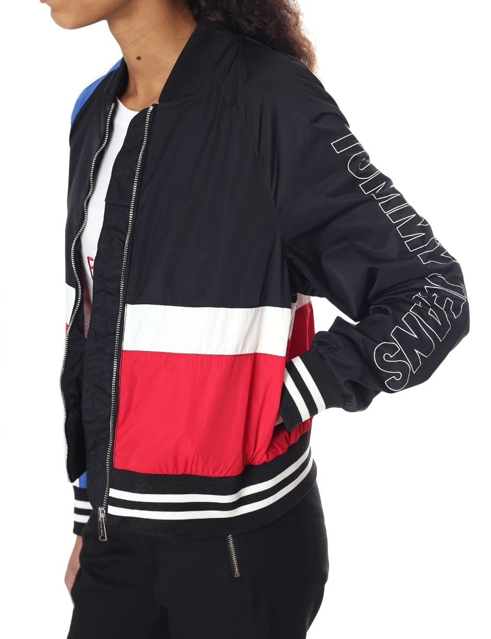 82ea97619 Tommy Hilfiger Colour-Blocked Women's Bomber Jacket