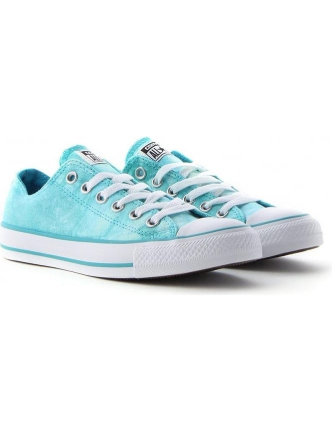 247e392fcfed All Star Women s Tie Dye Ox Trainer Turquoise