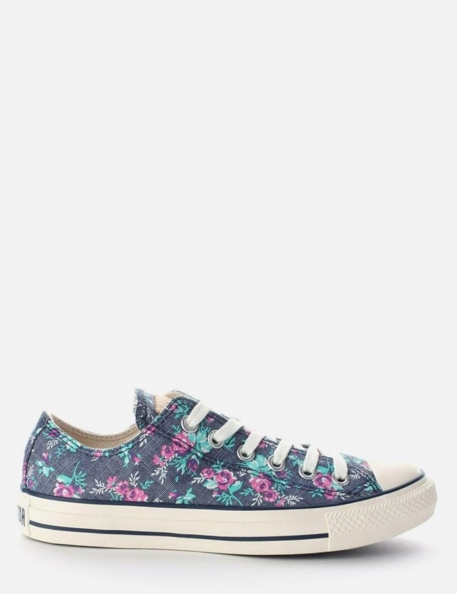 f1d185ca03ce CT Ox All Star Women s Floral Trainer Denim