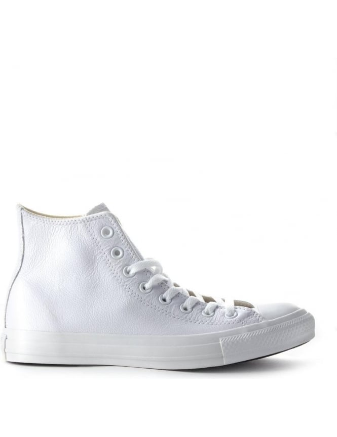 Converse Hi Top Men's Mono Leather Trainer White