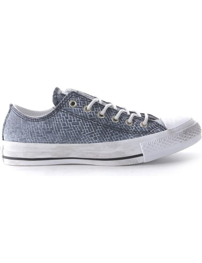 Converse Ox Women's Embossed Woven Trainer Black