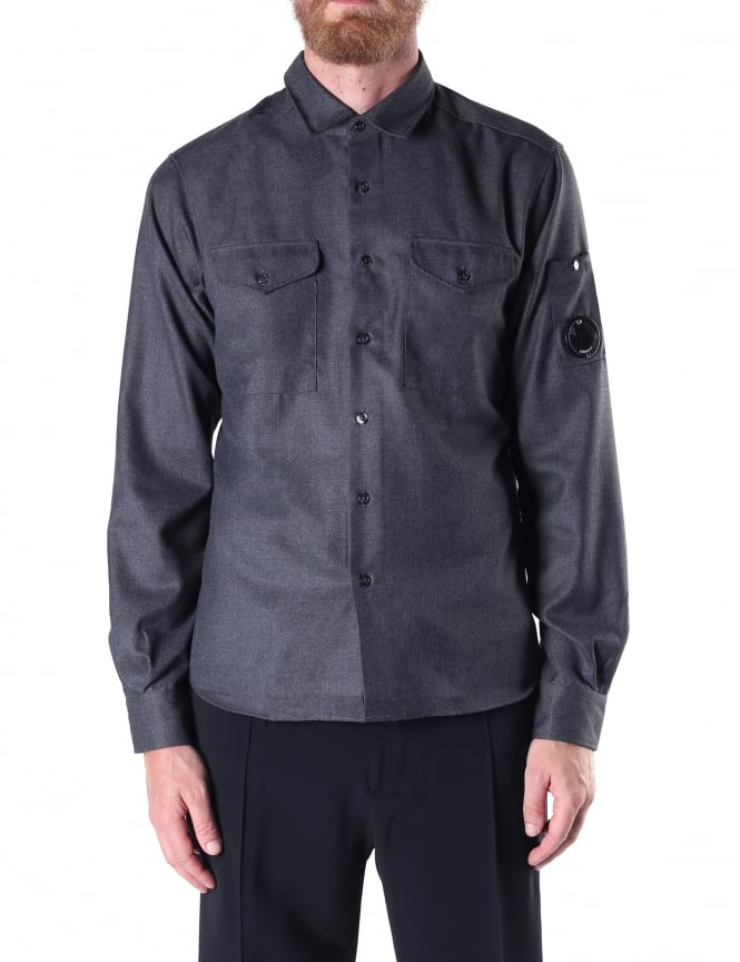 C.P. Company Men's Long Sleeve Lens Shirt