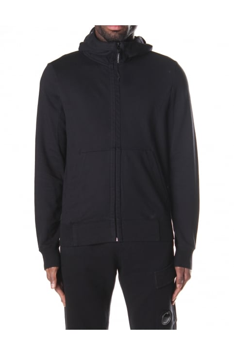 Men's Zip Through Hooded Goggle Sweat Top