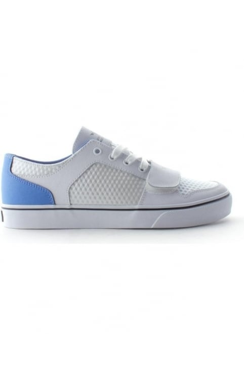 Cesario Lo Men's Lace Up Trainer White/Blue